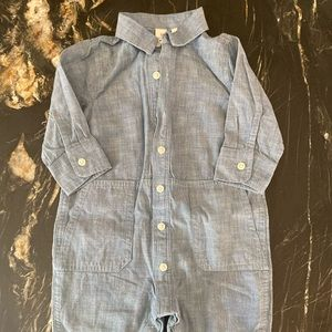JCrew Baby Chambray Romper Jumpsuit